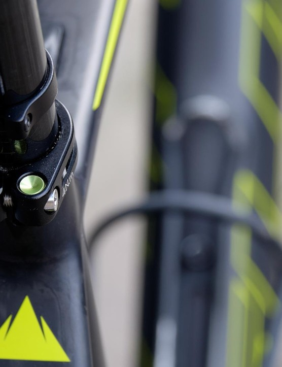 Replaceable inserts at the seatpost clamp are a sensible touch