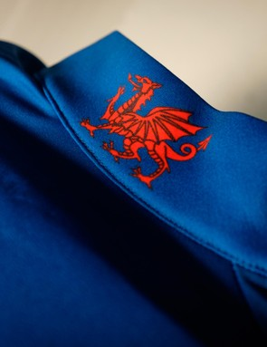 The jersey's Welsh Dragon emblem