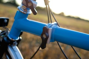 Wingnut style fastenings are a safe and simple way of making the Brompton's fold idiot-proof