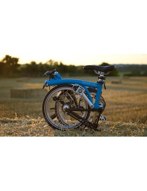 The Brompton S2L in its fully folded state