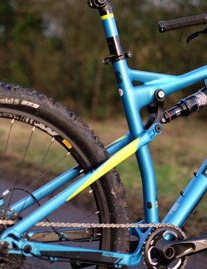 Smoothed welds plus a Subaru-esque paintjob make for a trick looking bike
