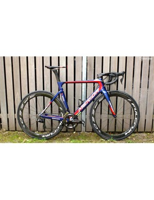 Merida's new Reacto III in Team-E spec and Bahrain-Merida pro team livery