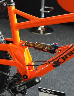 With 120mm of travel the Orange Four is a touch steeper and lighter than the company's popular Five trail bike