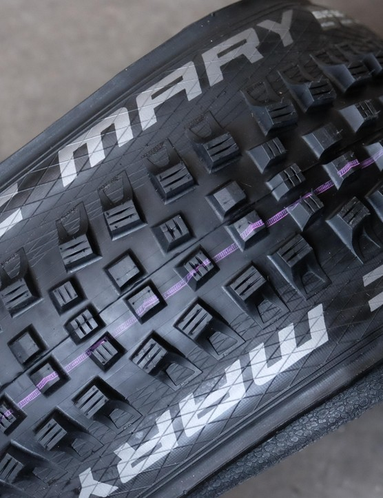 The purple stripe on those Magic Mary tyres mean Addix compound is in the mix