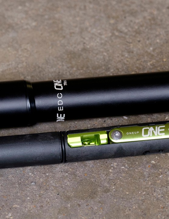 A tiny pump goes with the OneUp EDC tool system