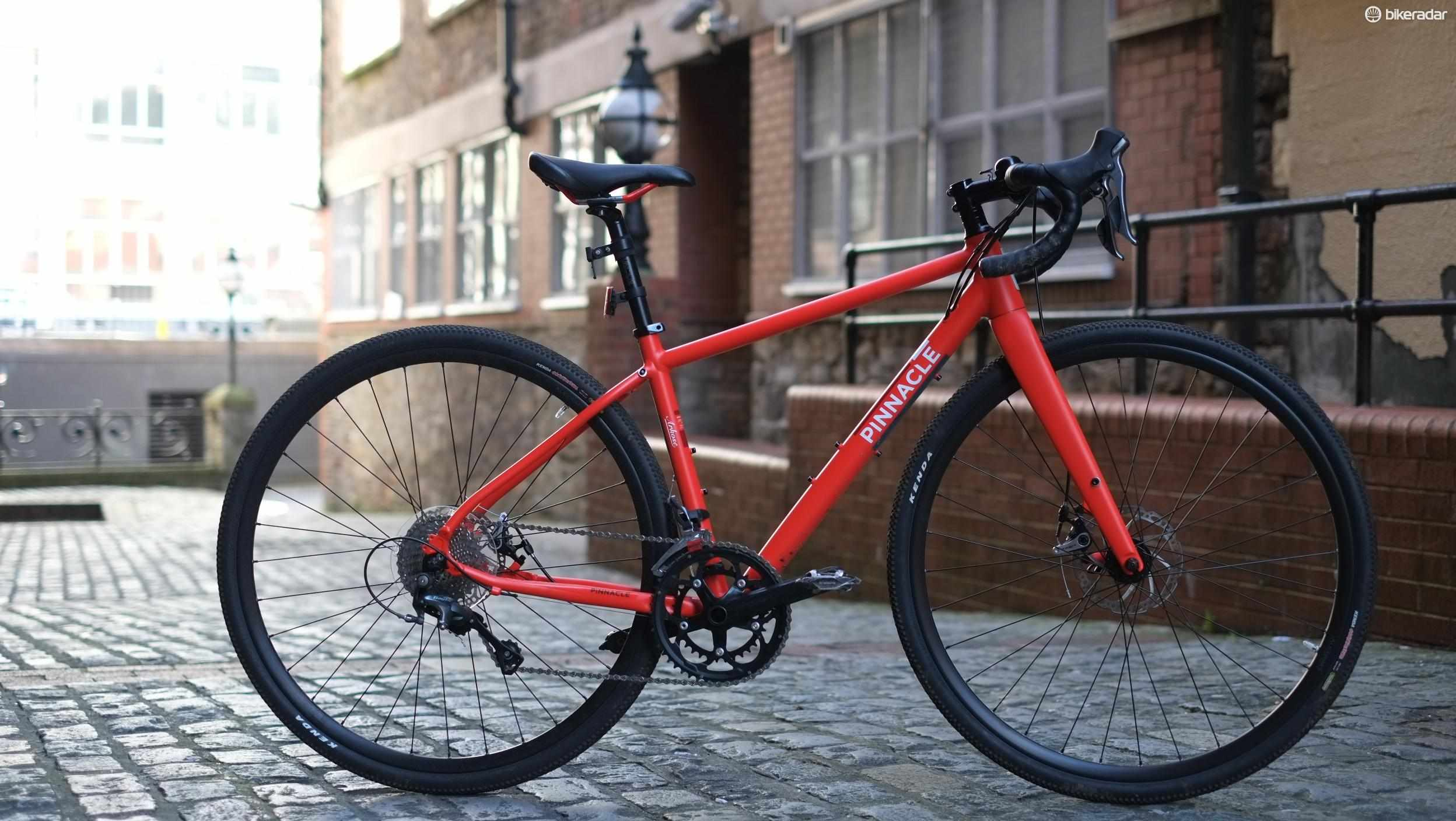 The Pinnacle Arkose 2 is a women's specific adventure road bike