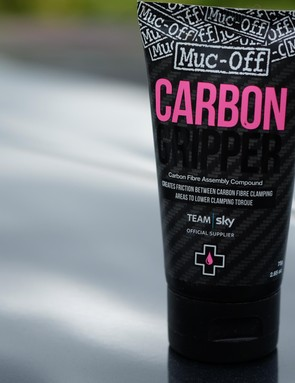Muc-Off's Carbon Gripper, like many similar products, is used to lower the torque required at carbon clamping areas