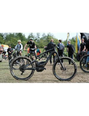 While it's most certainly not being ridden by the racers, Lapierre was showing of its new e-MTB