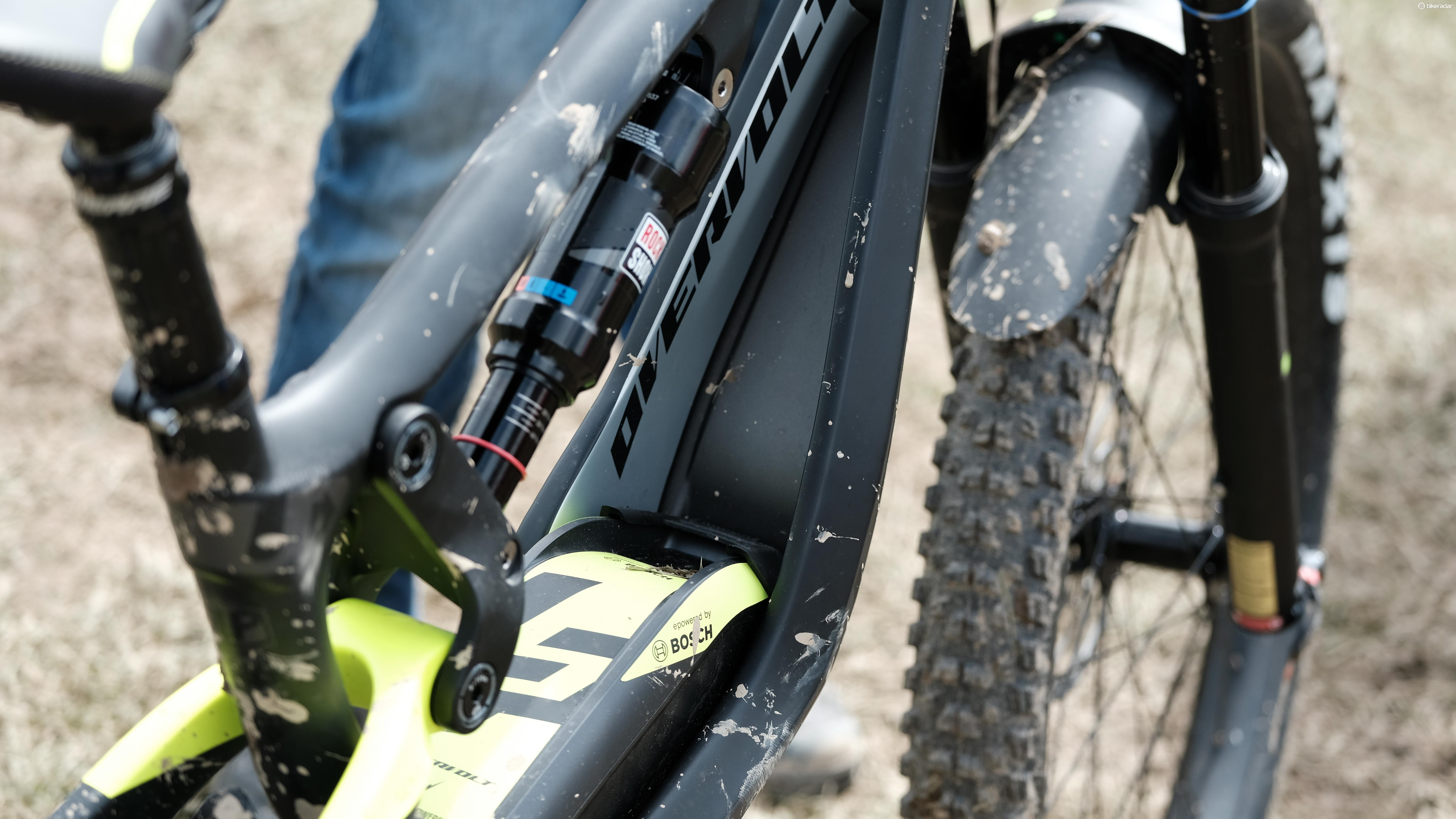 While the battery is currently supplied by Bosch, we wonder what that interesting shaped down tube has been designed to accommodate?