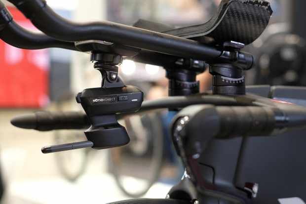 The Notio Konect measures wind speed, air density, rider speed and other things, then works with a Garmin Connect IQ app to display aero information on a newer Garmin Edge computer