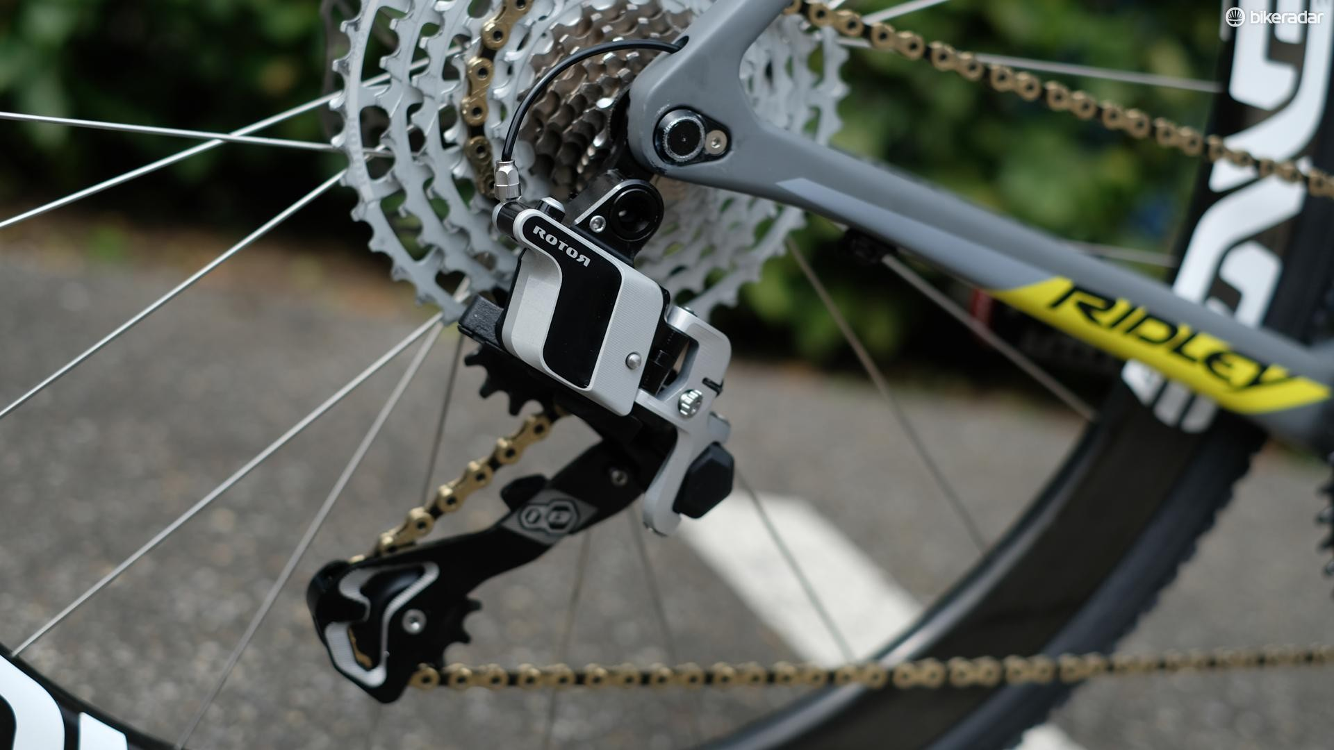 The rear derailleur we spotted at Eurobike 2018 looks to have come a long way from the chunky pre-production prototypes we displayed a few days ago