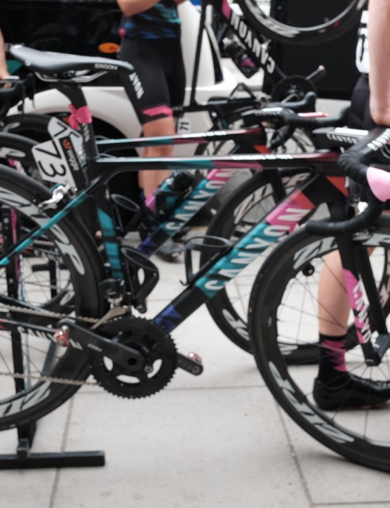Canyon//SRAM isn't on the new women's specific version of the Ultimate today, but expect to see more of the team on them in the near future