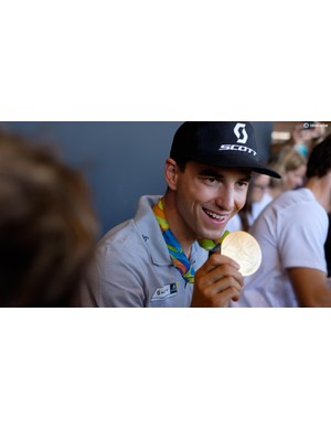 Nino Schurter, the first male mountain biker to win three Olympic medals