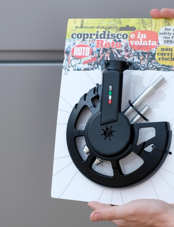 At just €14, this disc rotor cover is the cheapest we've seen so far