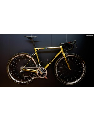 Greg Van Avermaet's BMC Teammachine was given a lick of golden paint following his victory in Rio