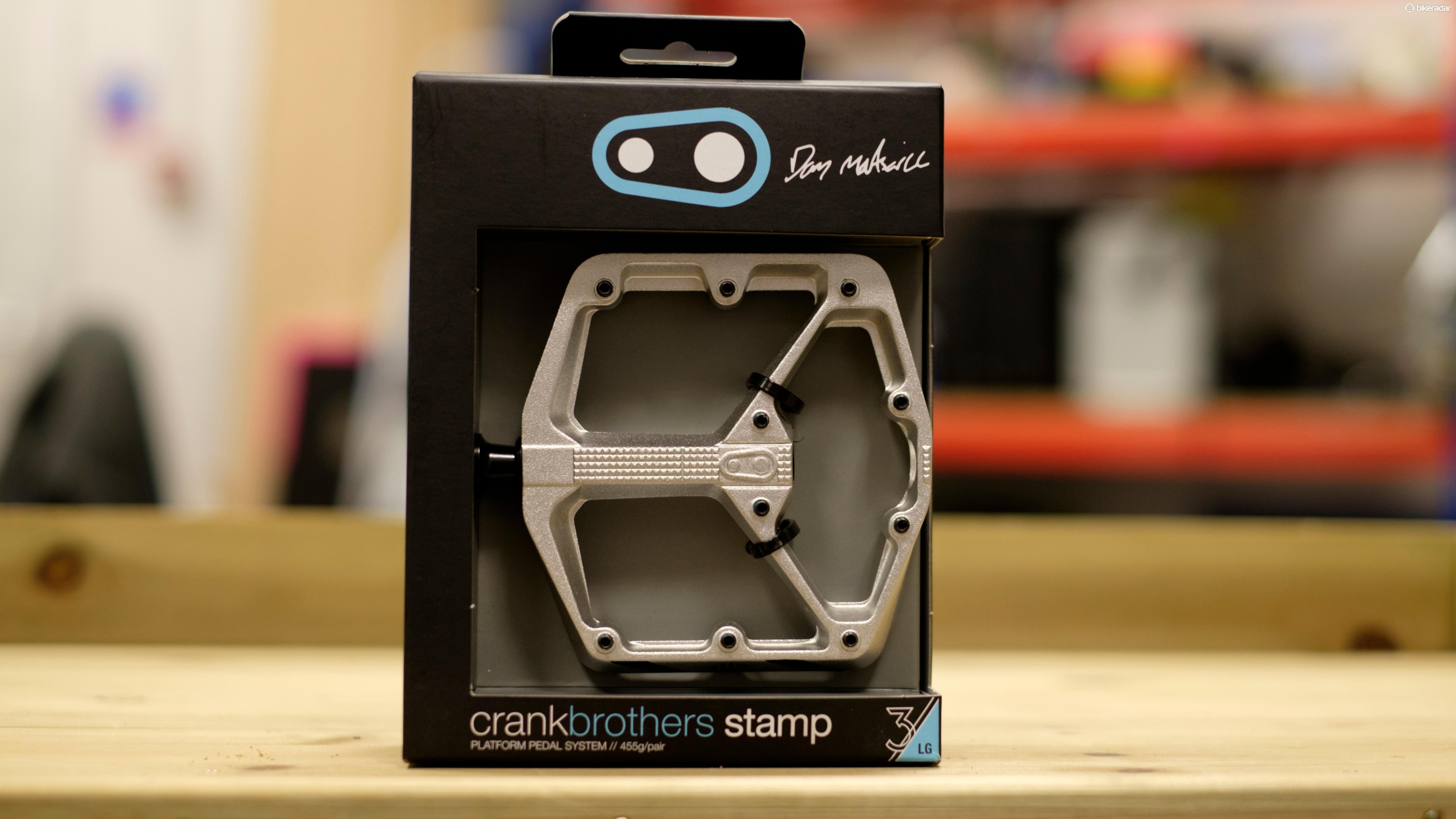 The Danny MacAskill signature pedal uses a unique silver finish and holds no premium over a regular Stamp 3
