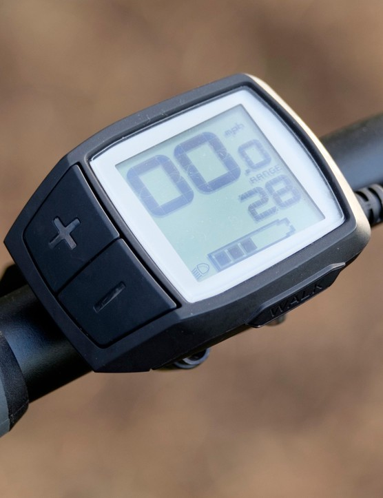 The Bosch Purion display is simple to operate and provides all of the information a rider could need