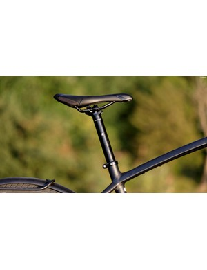 We had no complaints with the standard saddle and seatpost