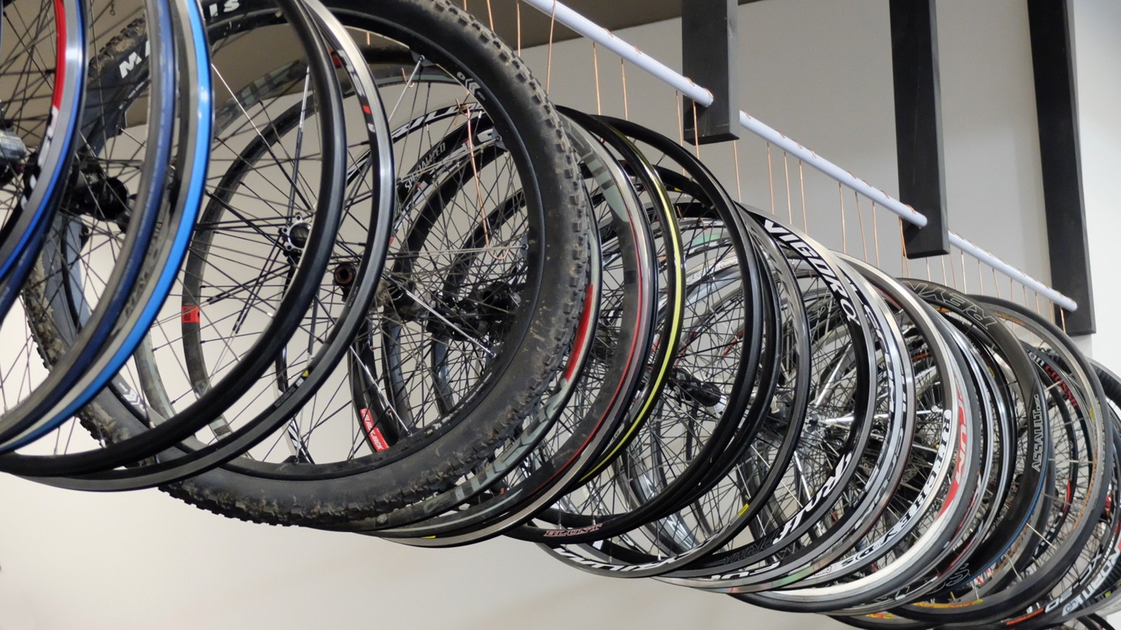 """We keep a hold of dozens of mostly broken, largely obsolete 26"""" wheels because 'just in-case'"""