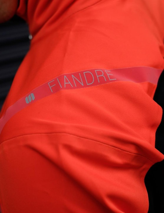 The jacket is from Sportful's Fiandre line, which is Italian for Flanders