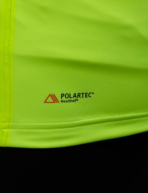 The jacket is constructed from Polartec's NeoShell fabric and also features taped seams for further protection