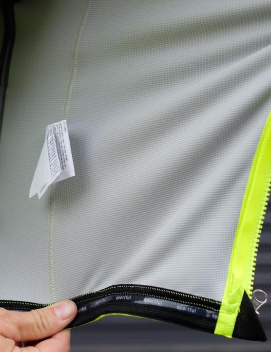 The inside of the Fiandre Extreme jacket