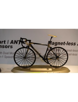 As stunning as this tiny bicycle model is, that saddle angle is hurting our eyes