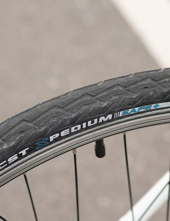 CST Xpedium Safe tyres perform okay, but crucially are well armoured against punctures