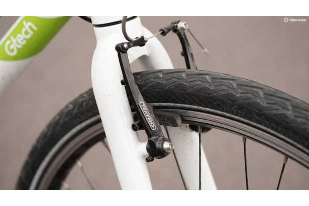 Tektro v-brakes offer a light action and plenty of power but they're a bit rubbish in the wet