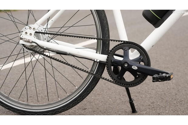 The Gates belt drive is quiet, smooth and, unlike a chain, poses no threat to your clothing