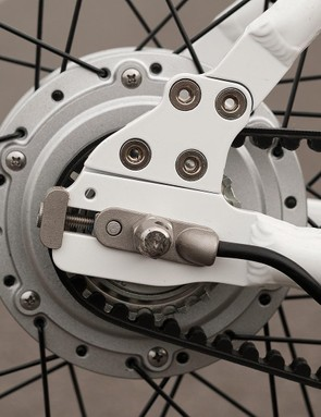 Like all belt-driven frames, the Gtech can be separated in order to change its belt