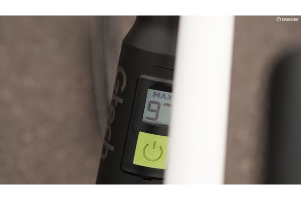 The way the battery display is obstructed by the frame's top tube is not ideal