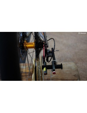 Tune's new derailleur alignment tool, the Linientreu, uses a laser, and everything is better with a laser