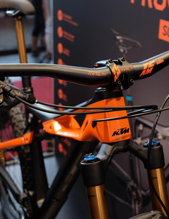 Colour co-ordination is obviously important to KTM, and we approve