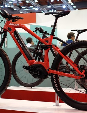 Ducati's e-MTBs are produced in collaboration with Bianchi
