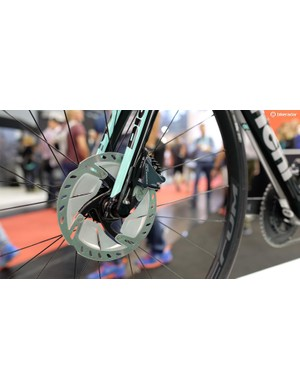 New Ultegra rotors are still a rare sight — we love the way they look
