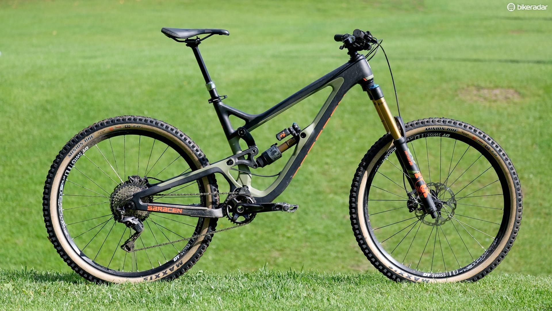 The Ariel LT is Saracen's brand new full-carbon long travel trail/enduro bike. The full build as shown here retails for £4,999.99