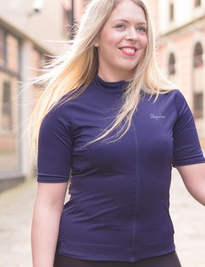 The women's Core jersey is available in Navy (pictured), Hi Viz Pink and Black