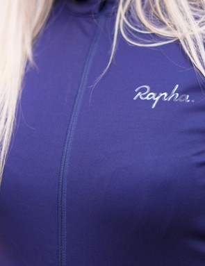 The Rapha logo is embossed rather than embroidered