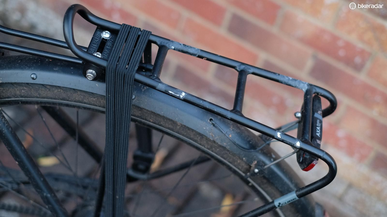 The rear light is also powered by a front dynamo hub, its position is perhaps a little low
