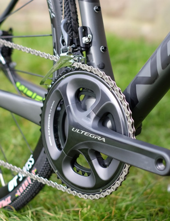 Off-road riders may well appreciate that the Ultegra drivetrain of the Search includes an 11-32t cassette