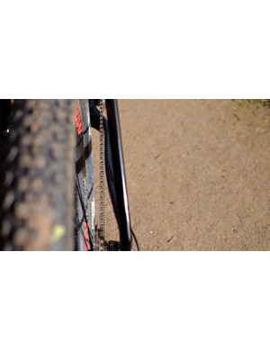 We found that the chain line of the bike meant a lot of interaction between the chain and the frame's chainstays – leading to quite a loud bike when riding rough terrain in higher gears