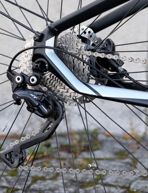 The BMW's derailleur gears clunked and clanged under the high torque of the Brose motor, this bike is crying out for a hub gear instead