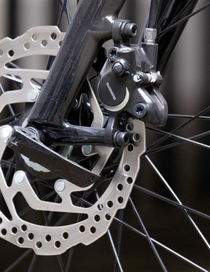 Hydraulic brakes from Shimano mean the Sirrus Sport can stop far better than most hybrids