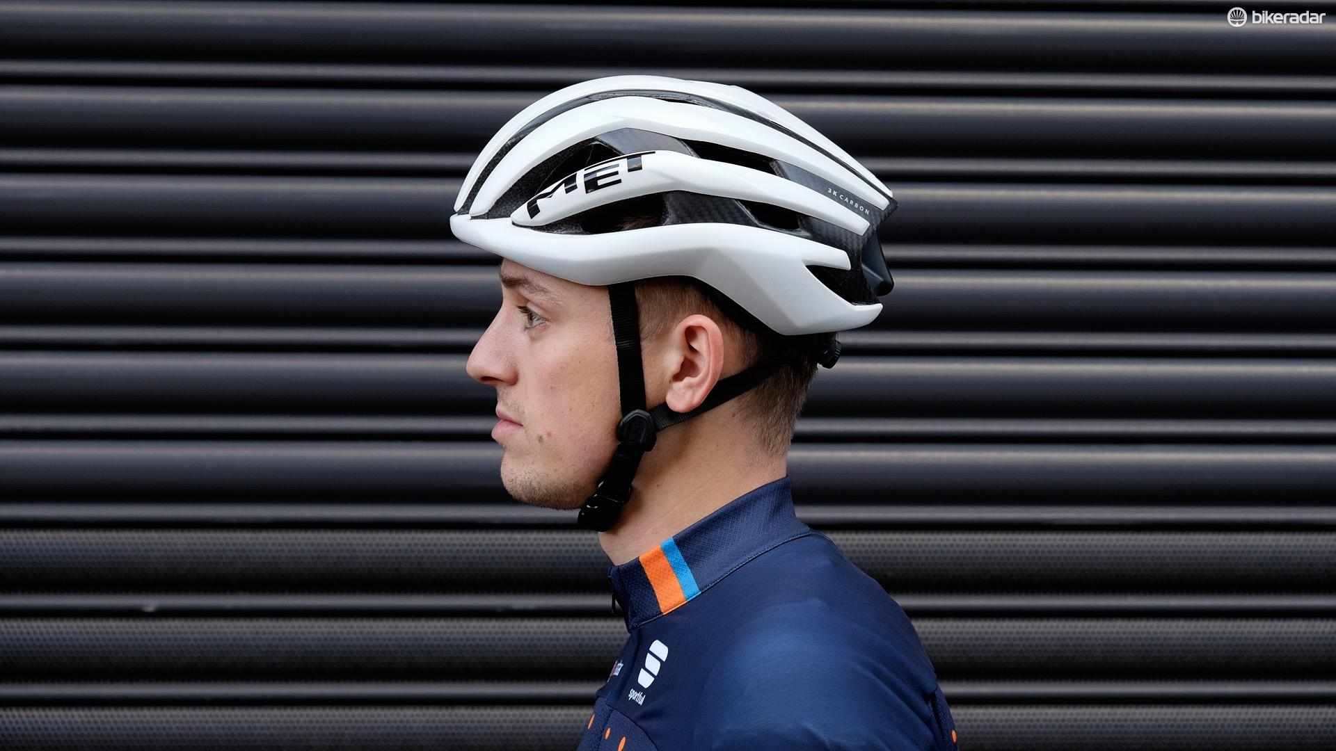 MET's Trenta 3K Carbon sits in the semi-aero helmet category