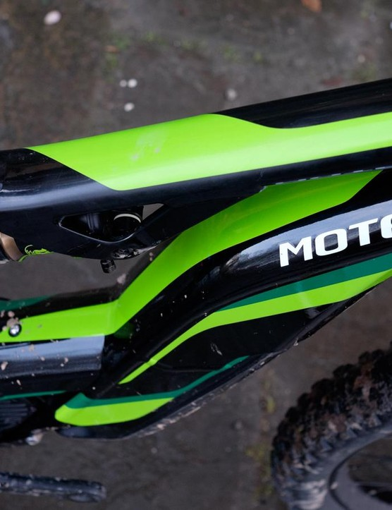 Cannondale says this 'torsion box' structure is massively stiffer than regular, open downtube designs and carries the battery as low and central as possible