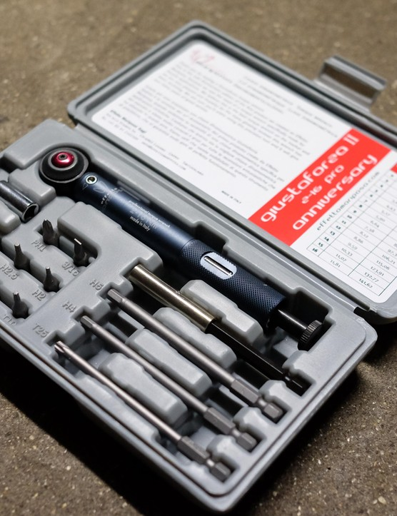 This limited edition Giustaforza torque wrench marks 10 years of this tool's production