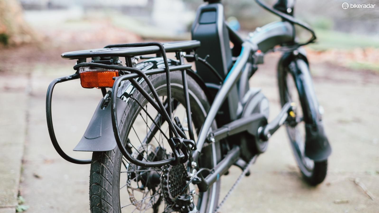 The cargo rack adds useful haul-ability to an already practical machine