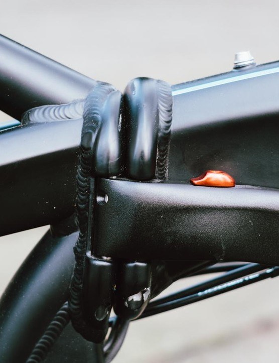 Each of the bike's hinges are large and easy to operate