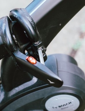 The hinge at the centre of the Vektron frame is easy to operate and its safety catch is reassuring to see